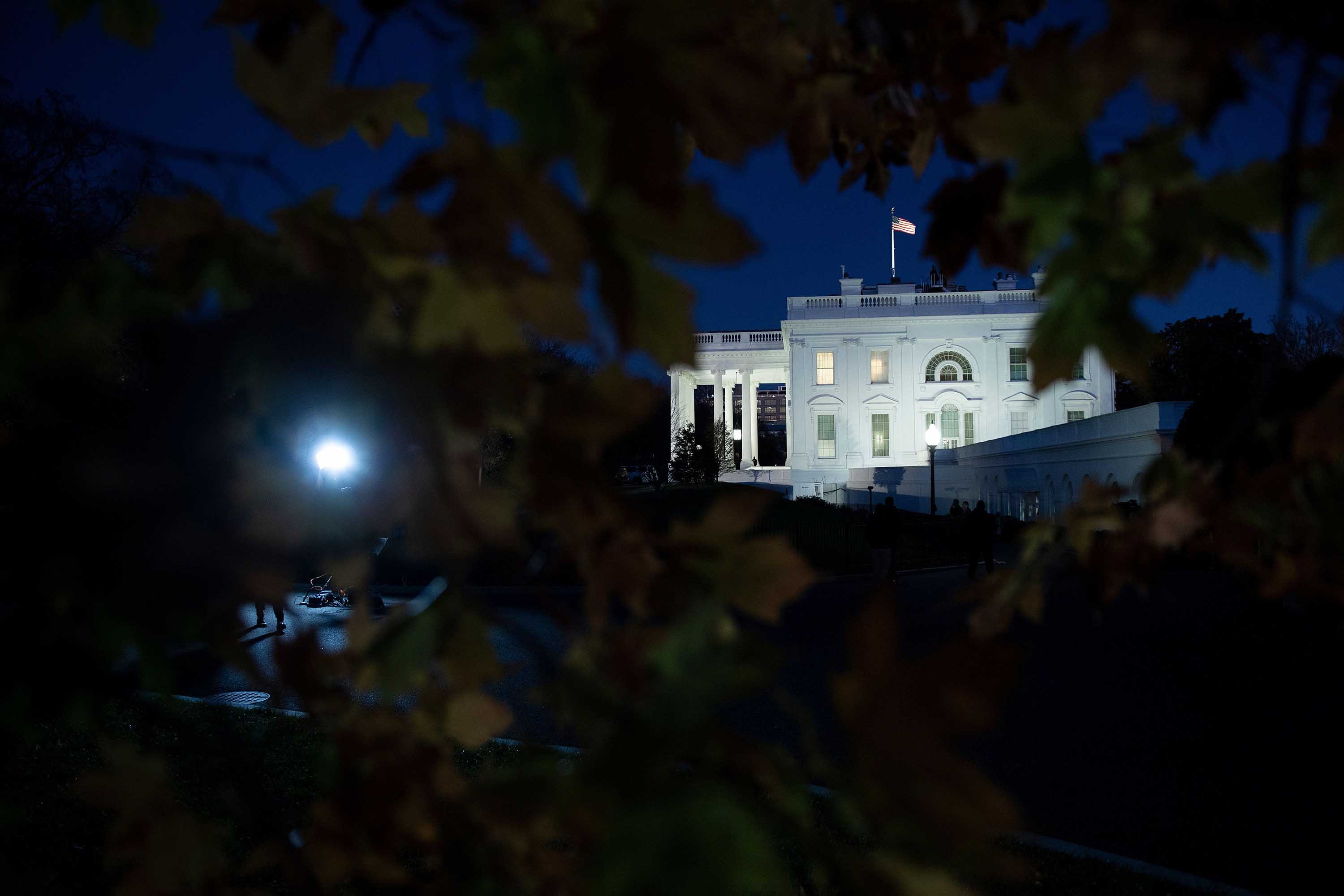 A view of the White House on November 18.
