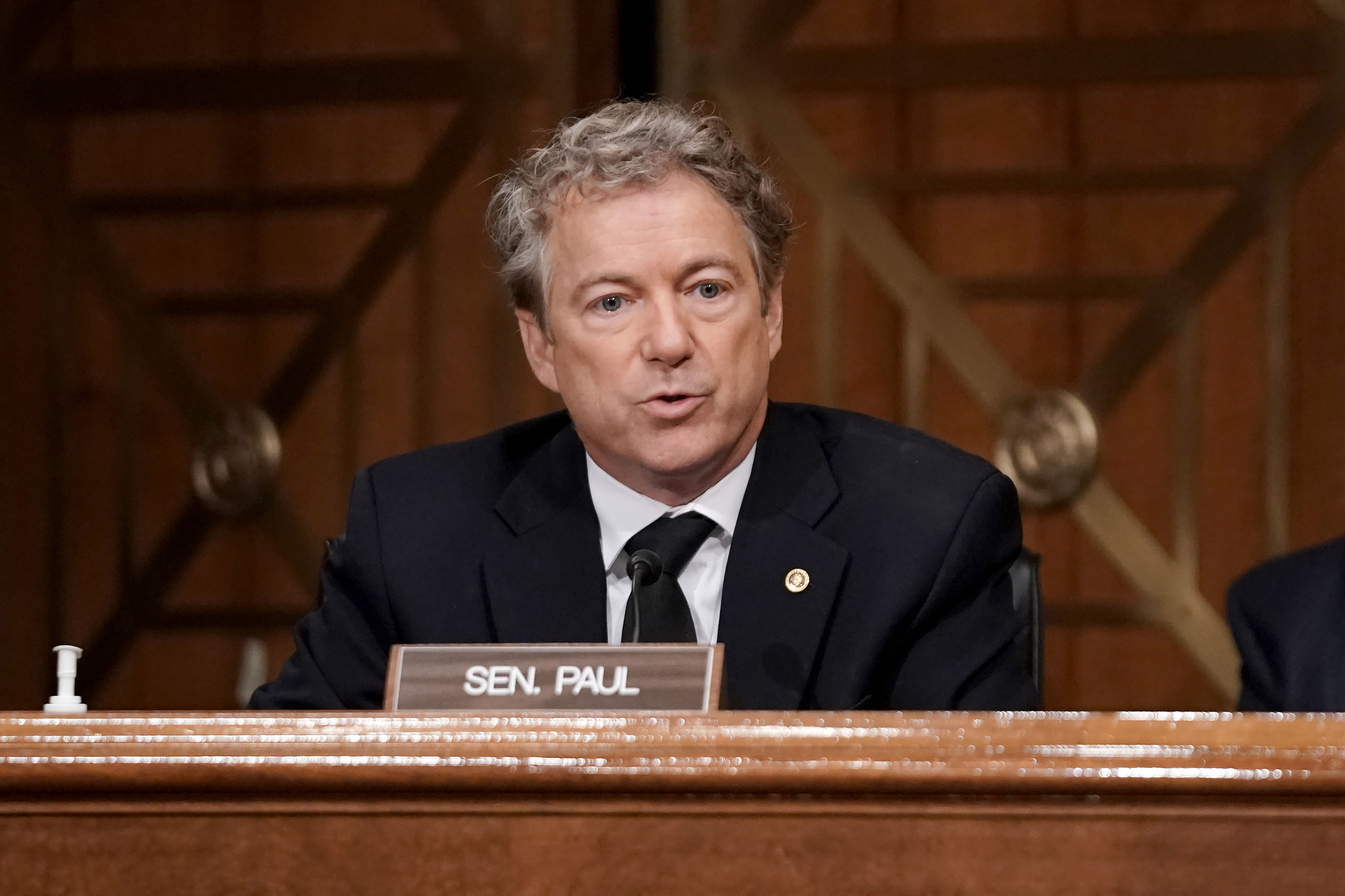 Sen. Rand Paul speaks during a hearing to discuss election security and the 2020 election process on December 16, 2020 in Washington, DC.