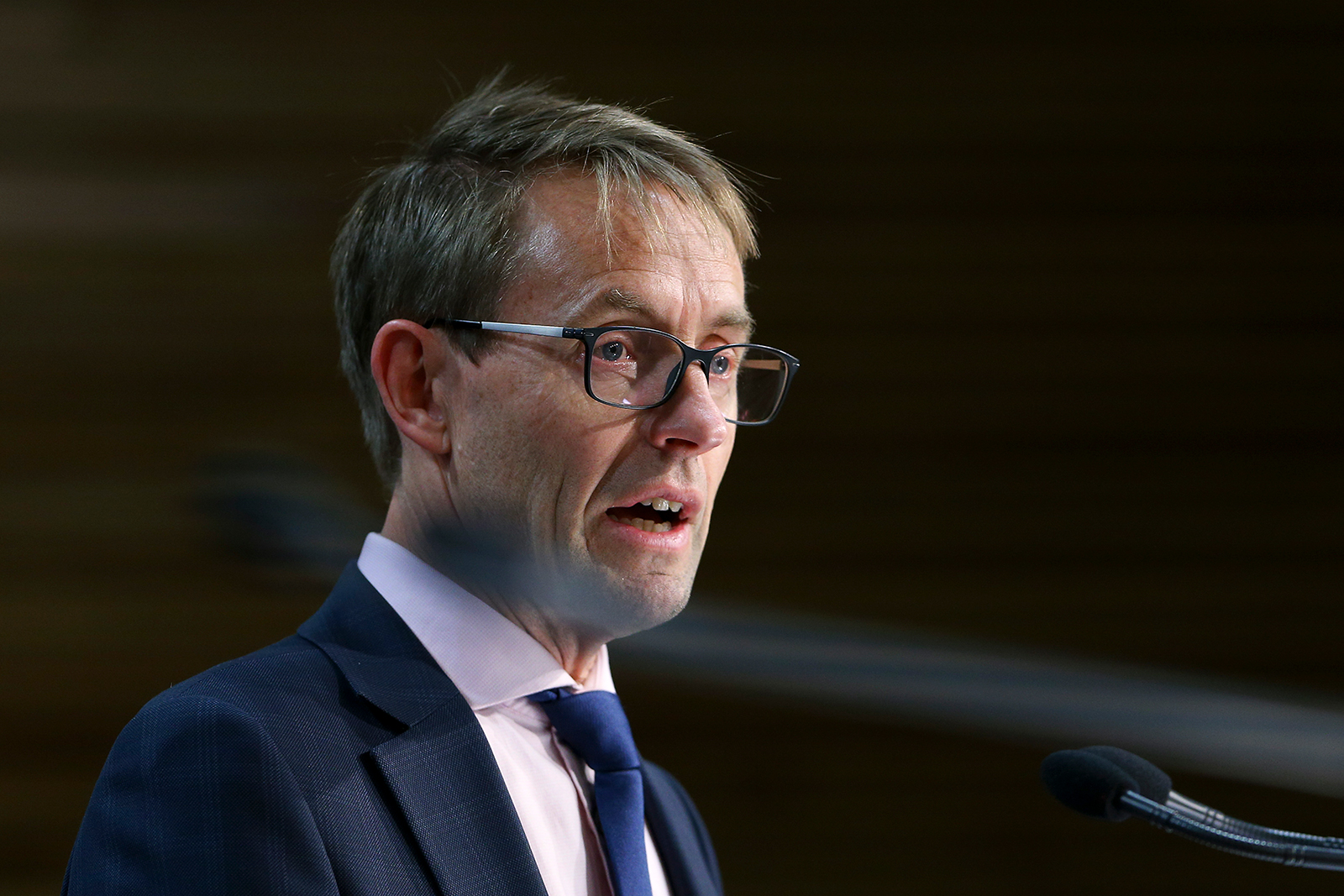 Director-General of Health Dr. Ashley Bloomfield speaks to media during a press conference at Parliament in Wellington, New Zealand on August 14.