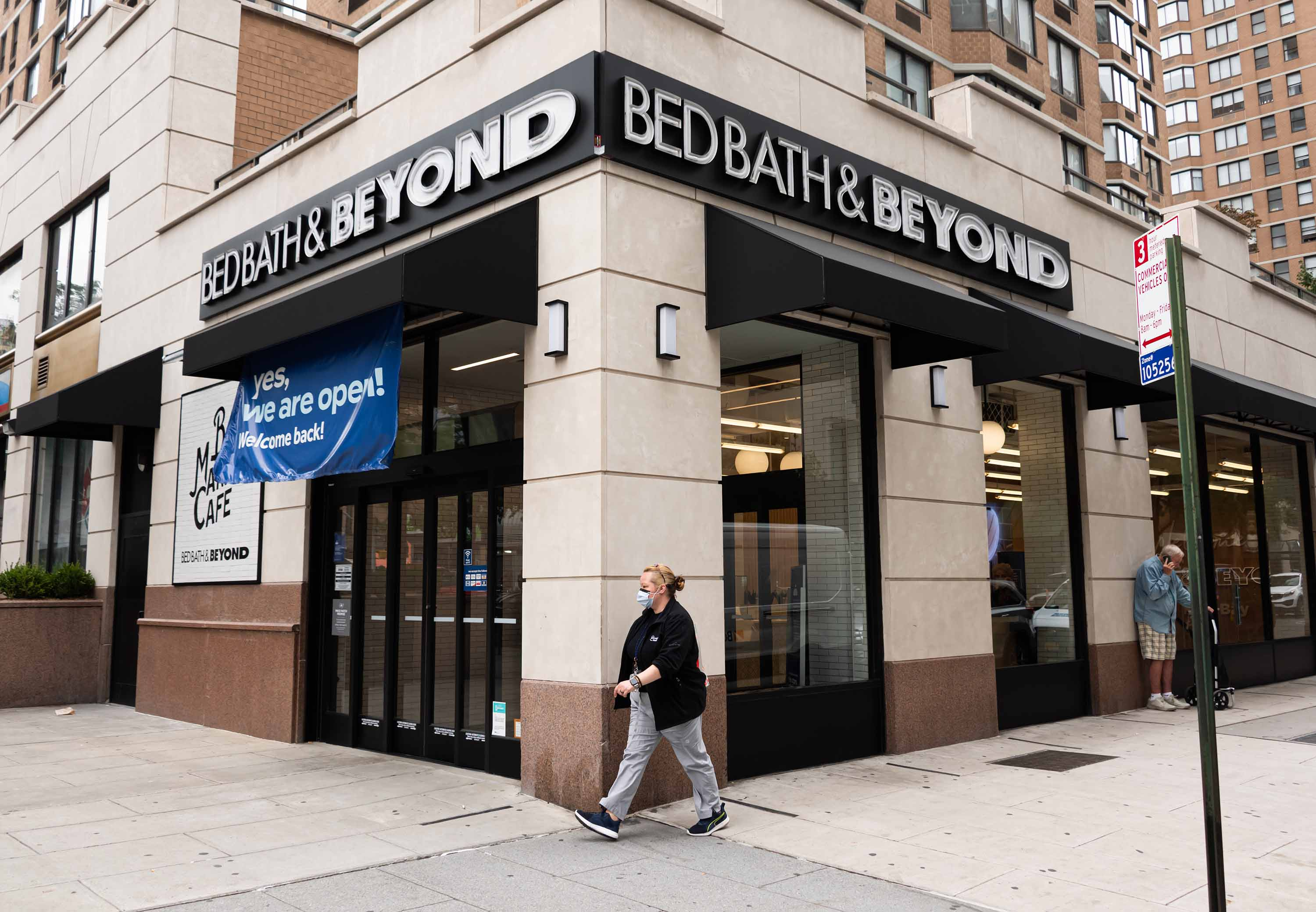 A person walks past a Bed Bath & Beyond store in New York City on September 24.