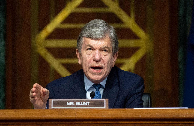 US Senator Roy Blunt speaks during a US Senate hearing in Washington, DC, on July 2.