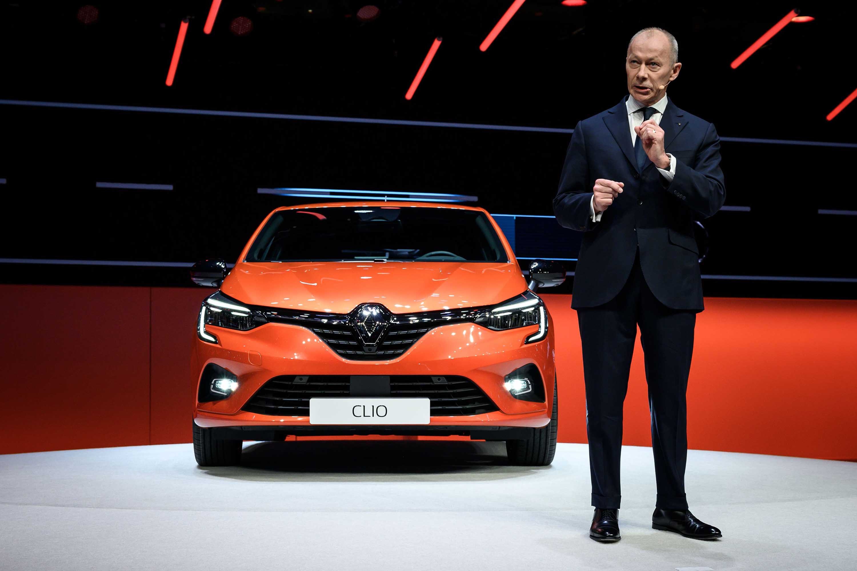 CEO Thierry Bolloré unveiled Renault's new Clio in Geneva.