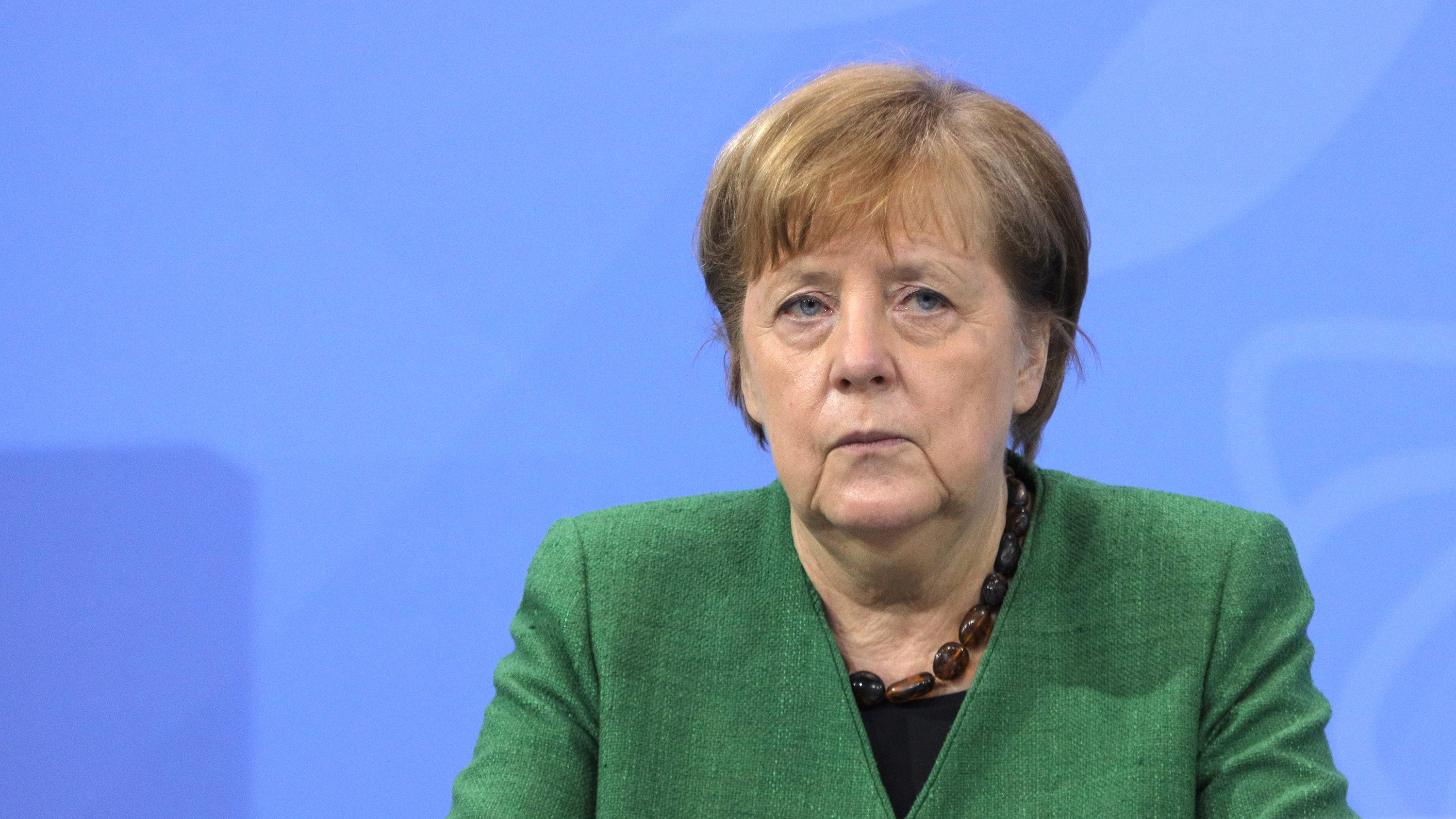 German Chancellor Angela Merkel attends a press conference on March 9, in Berlin, Germany.