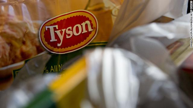 A bag of Tyson Foods frozen chicken is arranged for a photograph in Tiskilwa, Illinois, on Thursday, May 5, 2016.