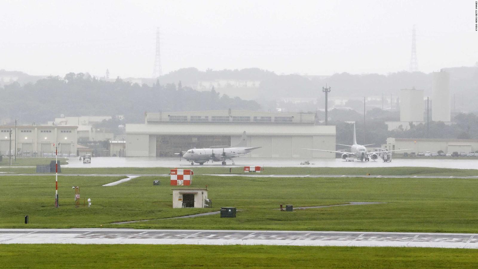 The U.S. Kadena Air Base is pictured in the southern Japan prefecture of Okinawa on June 22.