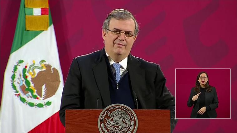 Foreign Minister Marcelo Ebrard