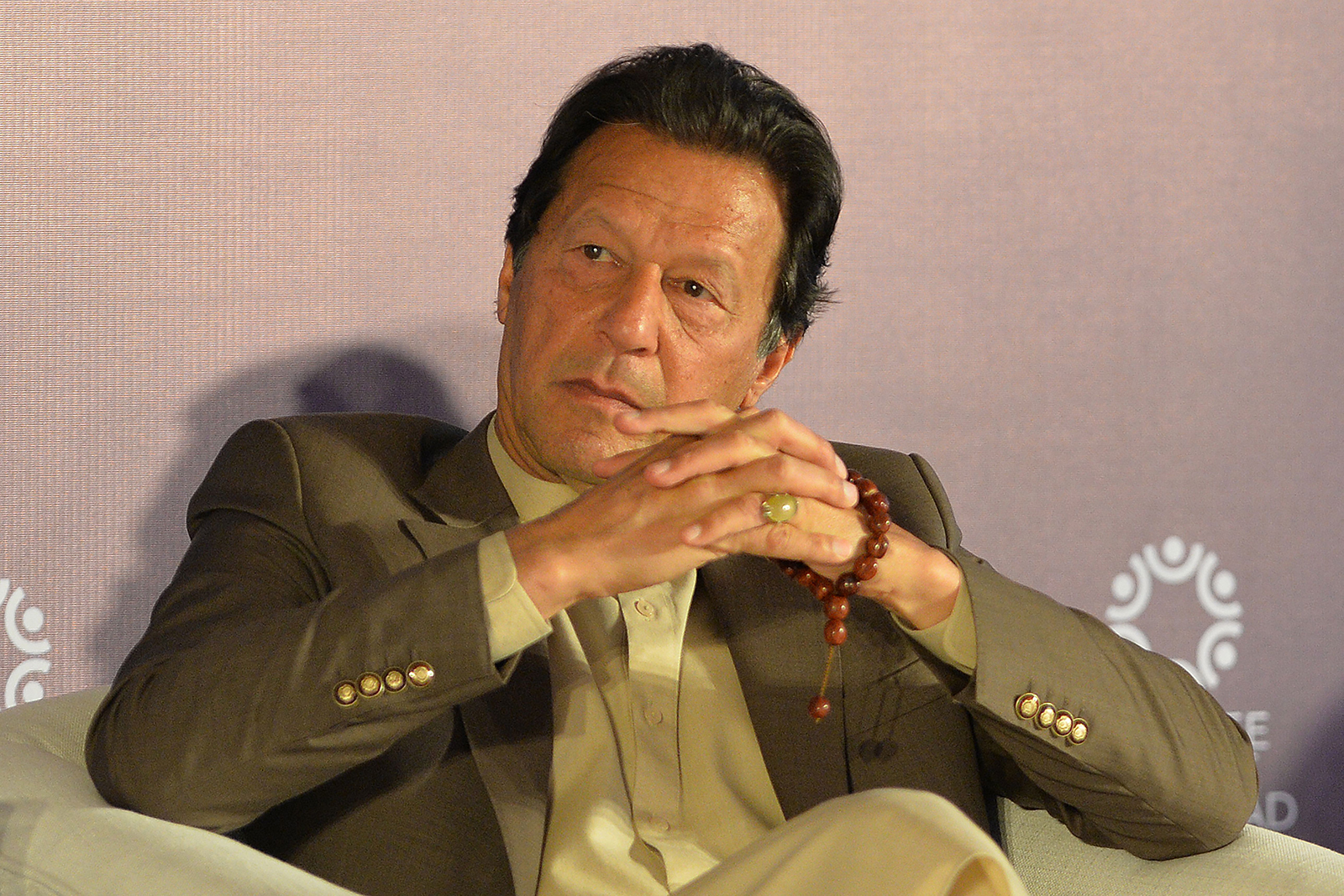 Pakistan's Prime Minister Imran Khan pictured on February 17.