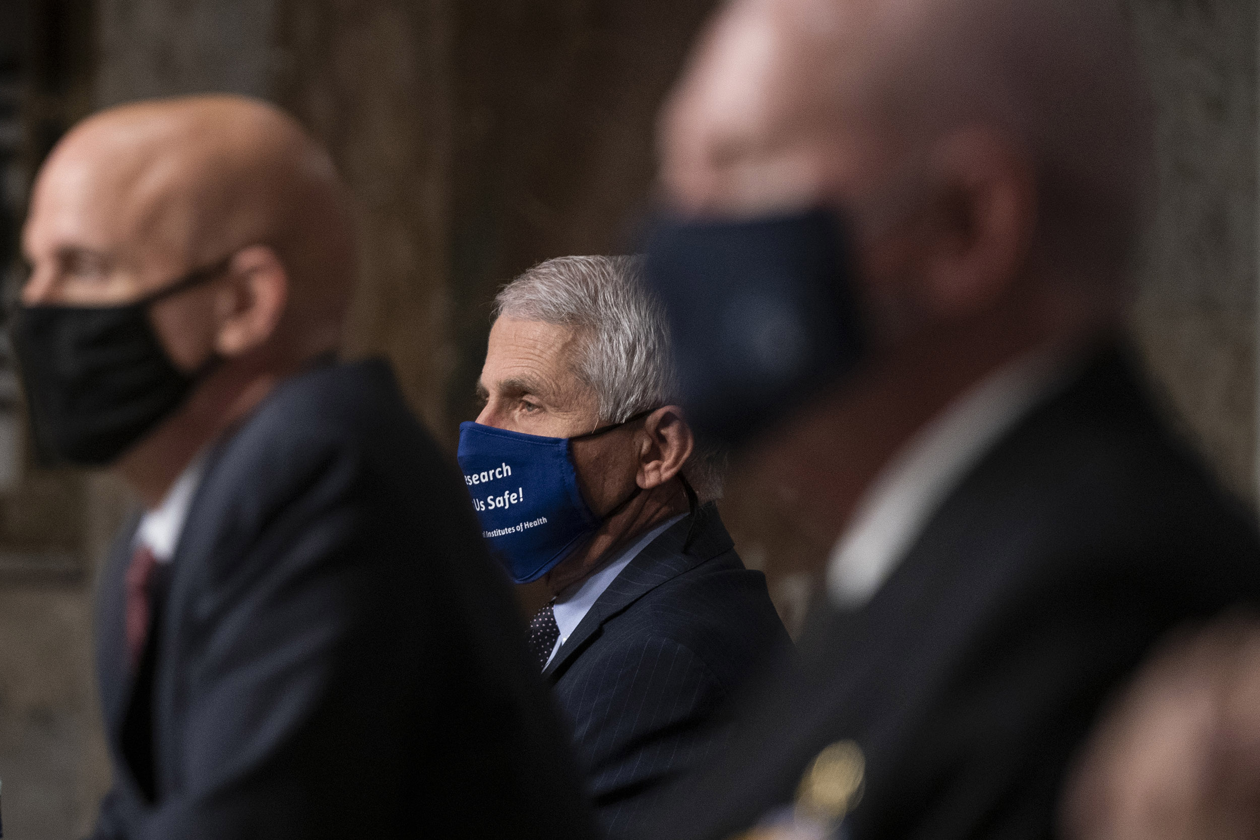 Dr. Anthony Fauci, director of the National Institute of Allergy and Infectious Diseases, listens to questioning during a committee hearing on September 23, in Washington, DC.