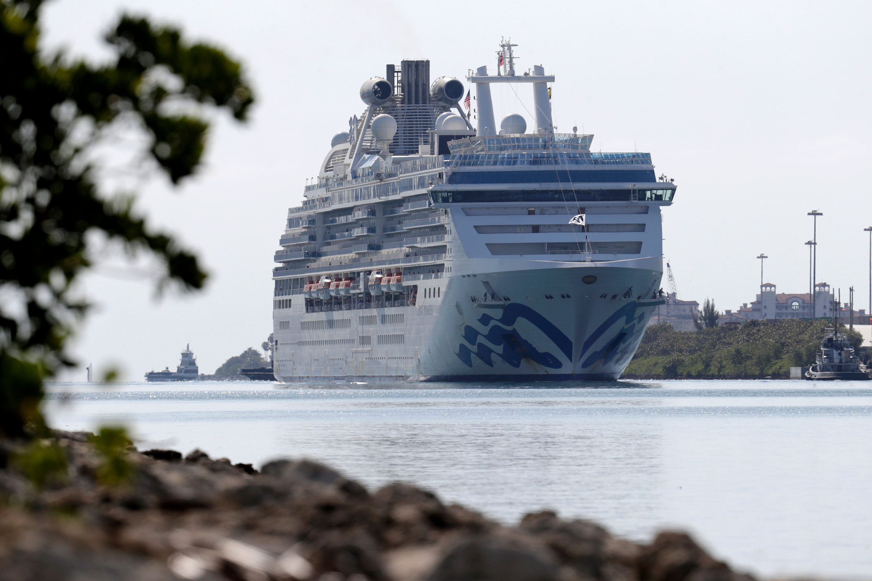 The Coral Princess cruise ship arrives at PortMiami on April 4.