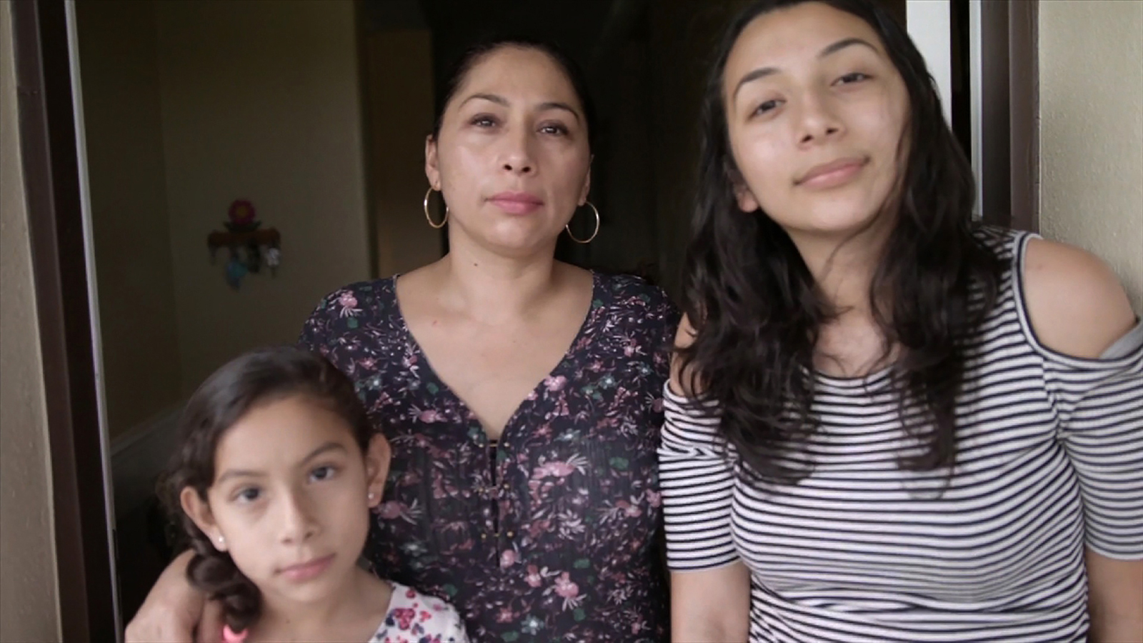 Estela Juarez, left, with her mother Alejandra Juarez and sister Pamela Juarez.