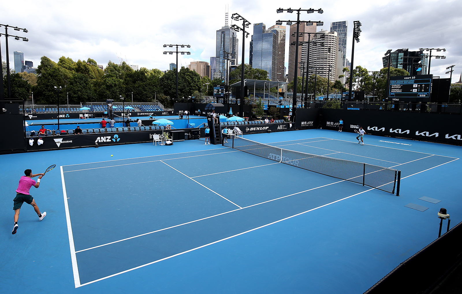 Play resumes at Melbourne Park in Australia, on February 5.
