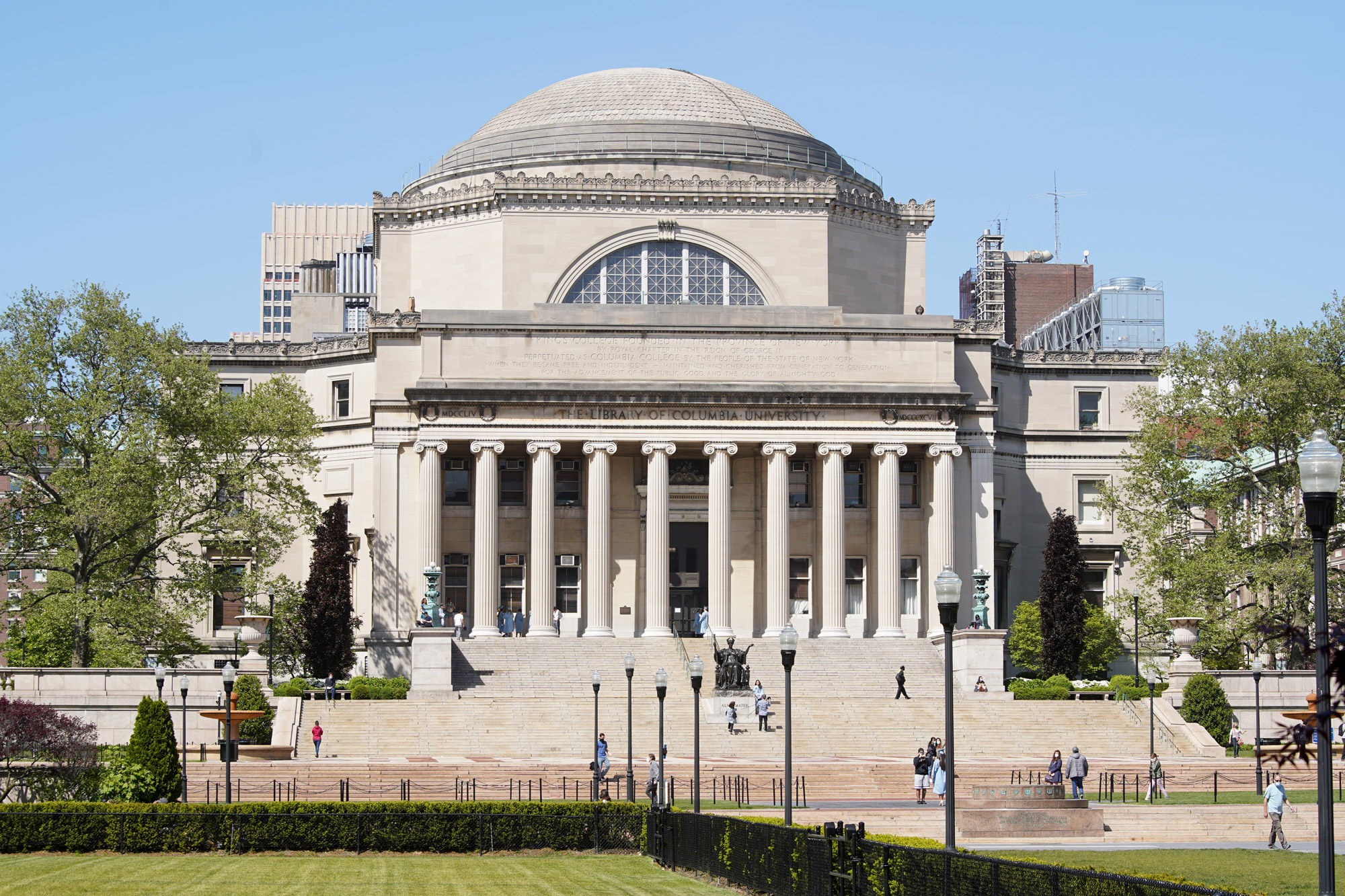 A view of the campus at Columbia University is seen on May 21 in New York.