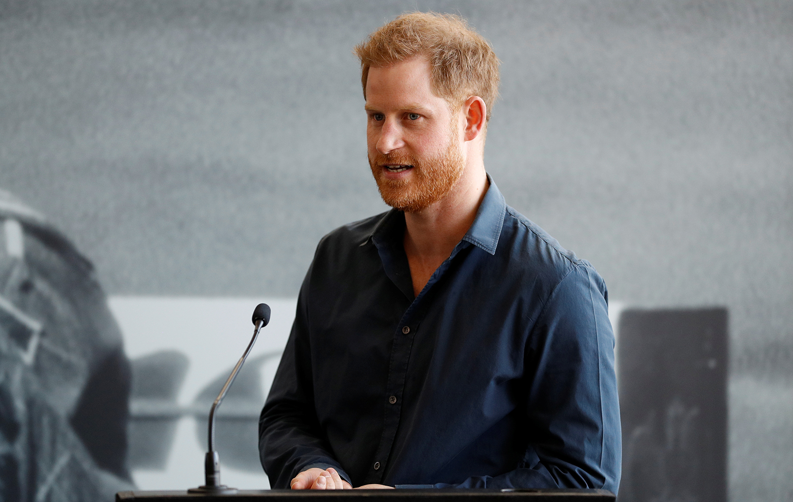 Prince Harry, Duke of Sussex speaks during a visit to The Silverstone Experience at Silverstone on March 6, 2020 in Northampton, England.