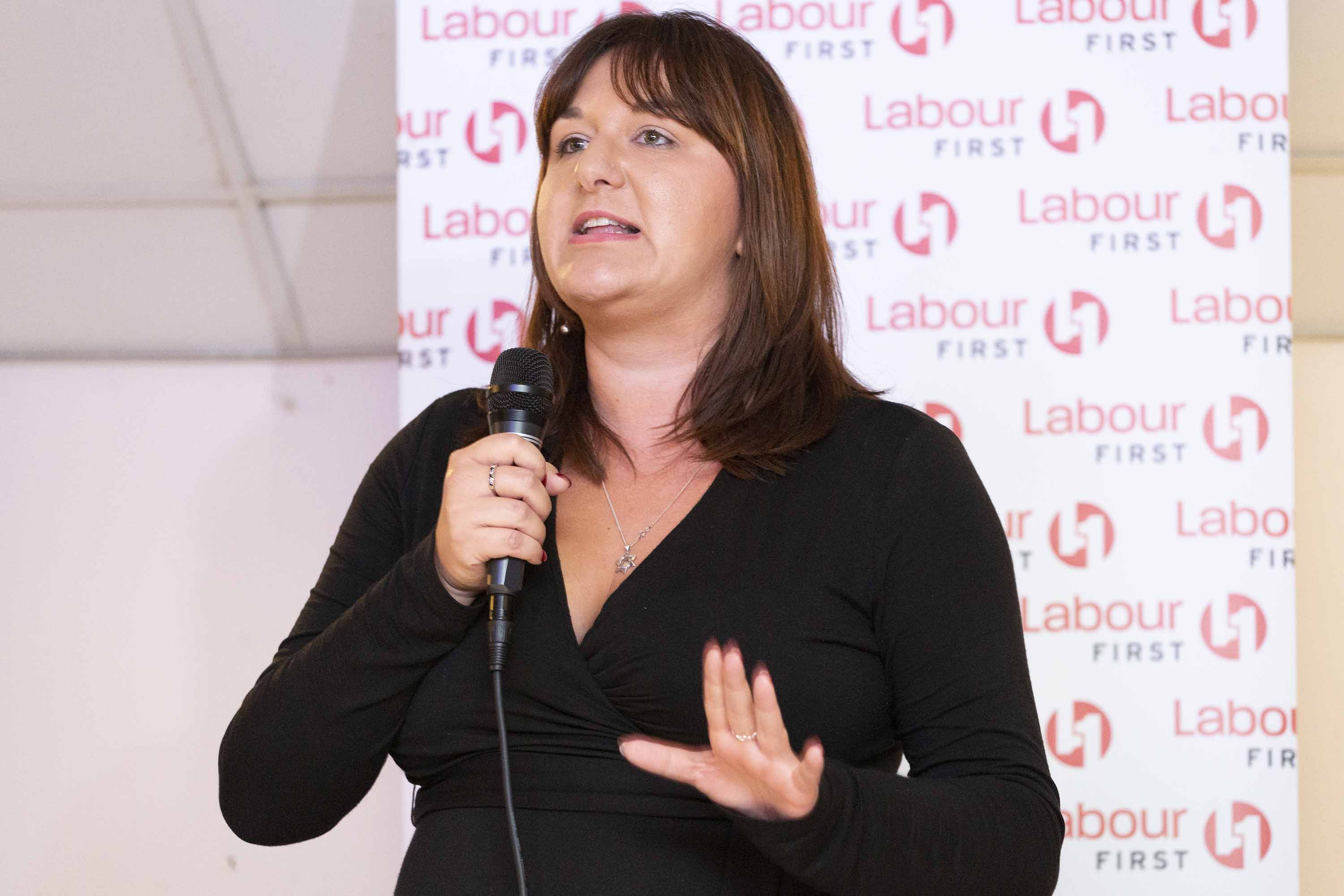 Ruth Smeeth speaks at an event on the fringe of the 2019 Labour Party conference in Brighton, England on September 22. Photo: Nicola Tree/Getty Images