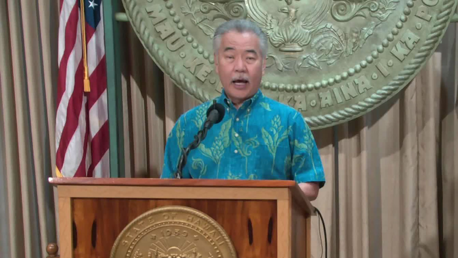 Hawaii Gov. David Ige speaks during a news conference on September 16.