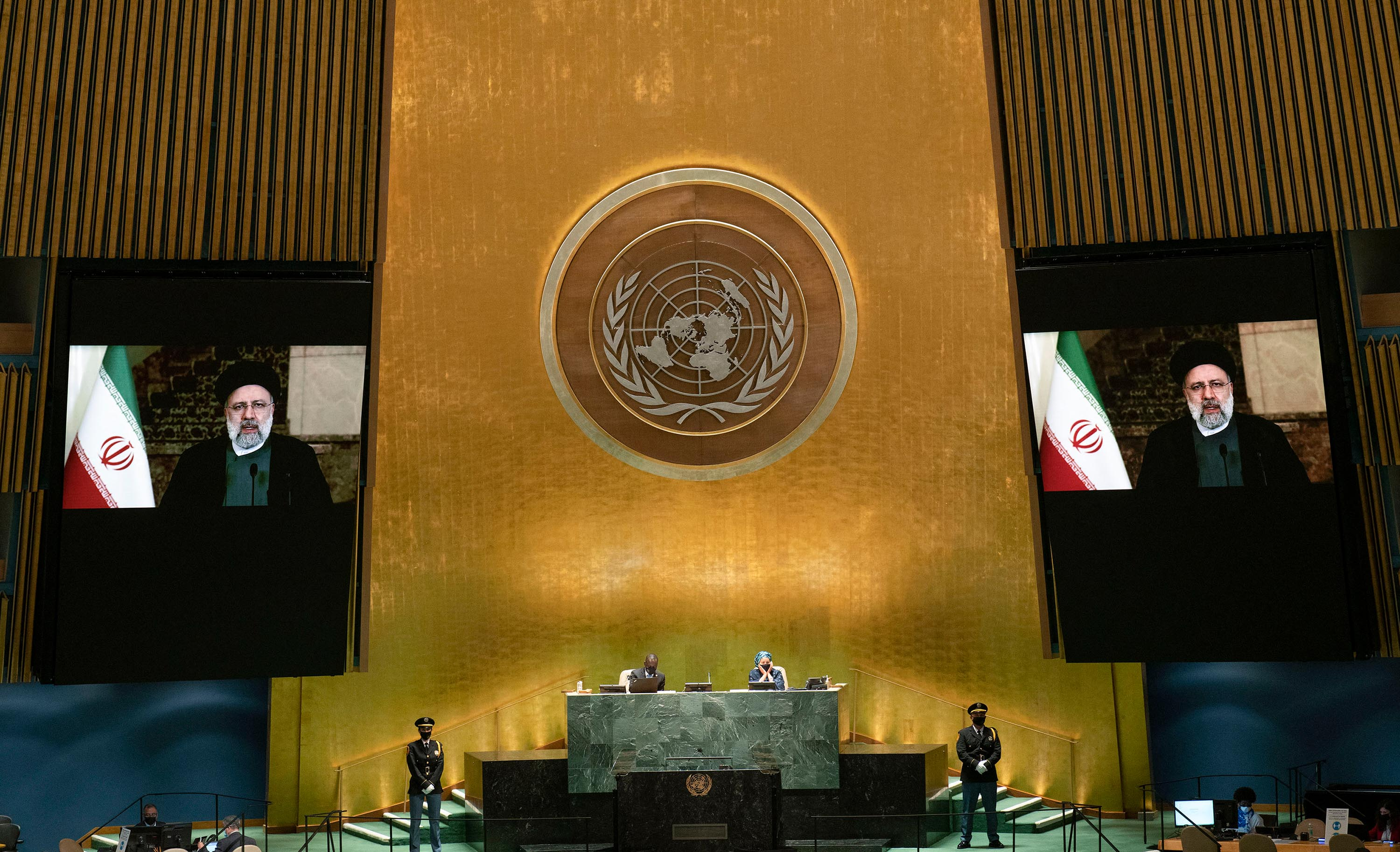 """Iran's president slams US in UN speech, says world no longer cares about """"America First"""""""