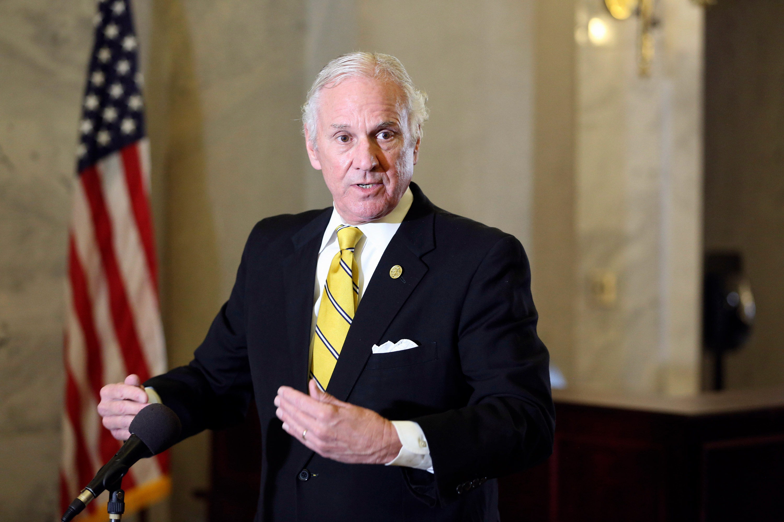 South Carolina Gov. Henry McMaster speaks during a news conference on January 27 in Columbia, South Carolina.