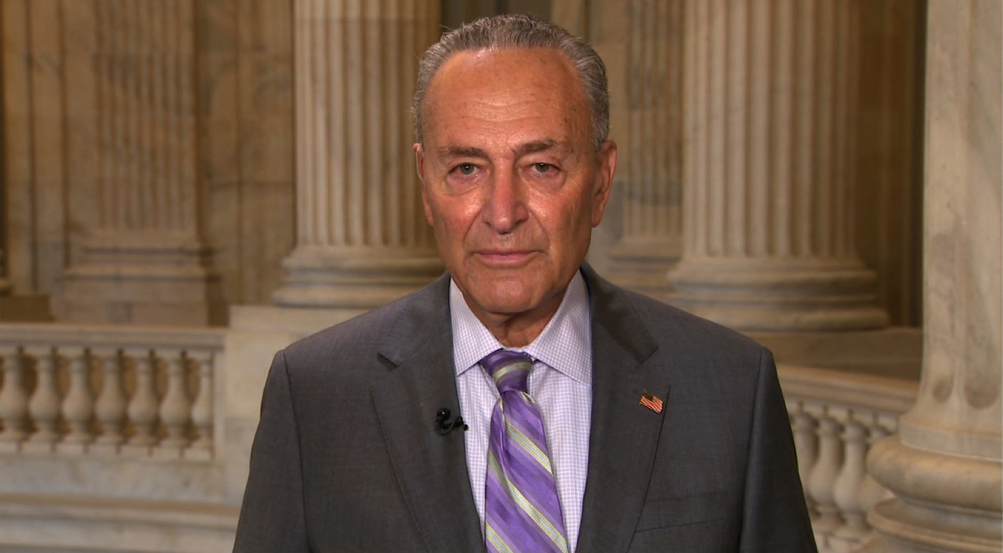 "Senate Minority Leader Chuck Schumer on CNN's ""New Day"" on September 9."