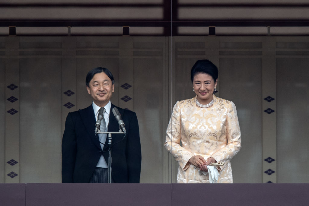 Japan's Empress Masako and Emperor Naruhito at the Imperial Palace in Tokyo, Japan, on January 2.