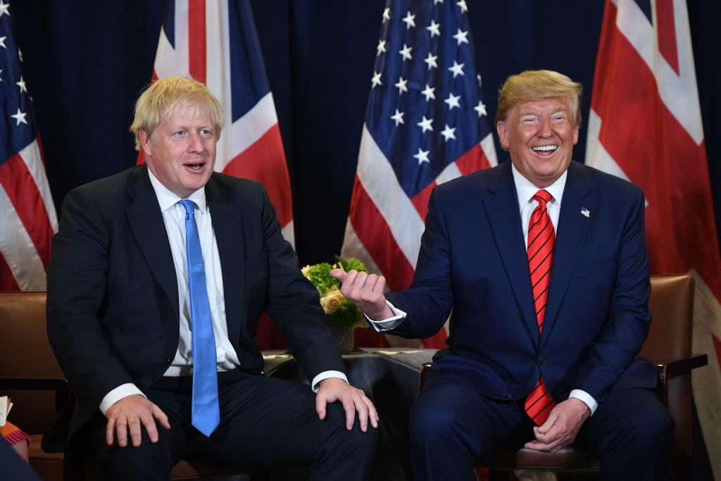 Johnson and Trump at the UNGA on Tuesday.