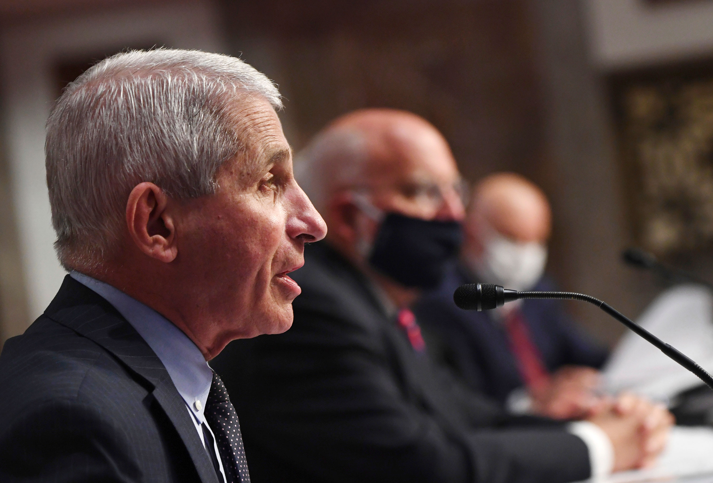 Dr. Anthony Fauci, director of the National Institute for Allergy and Infectious Diseases, testifies before a Senate Health, Education, Labor and Pensions Committee hearing on June 30 in Washington, DC.