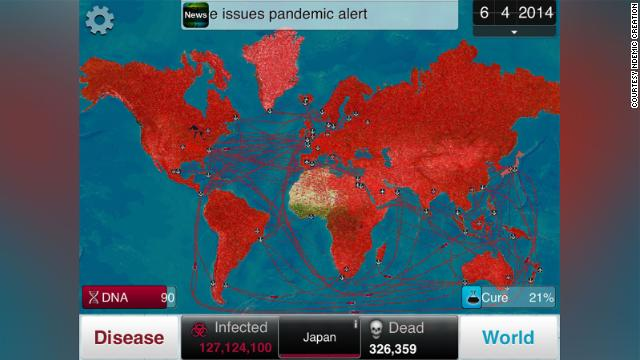 Plague Inc. players can watch as their disease spreads from country to country.