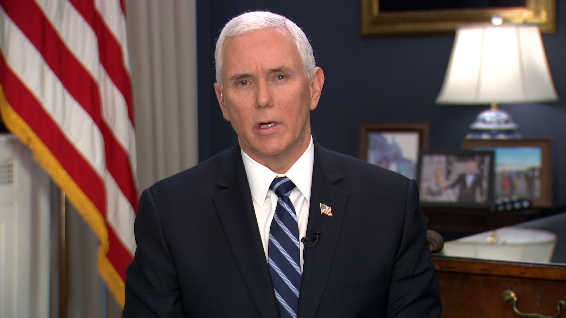Vice President Mike Pence speaks to CNN on Thursday.