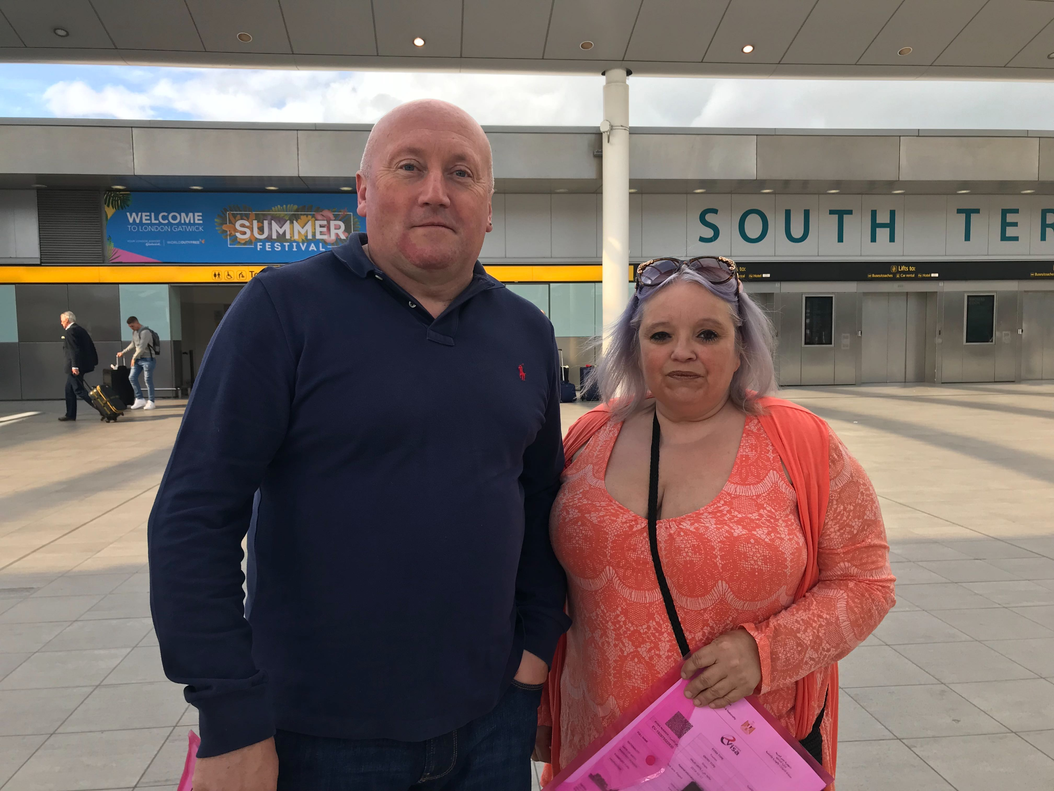 Martin Nowell and Pixie Flageul had booked flights with Thomas Cook to Hurghada, Egypt.