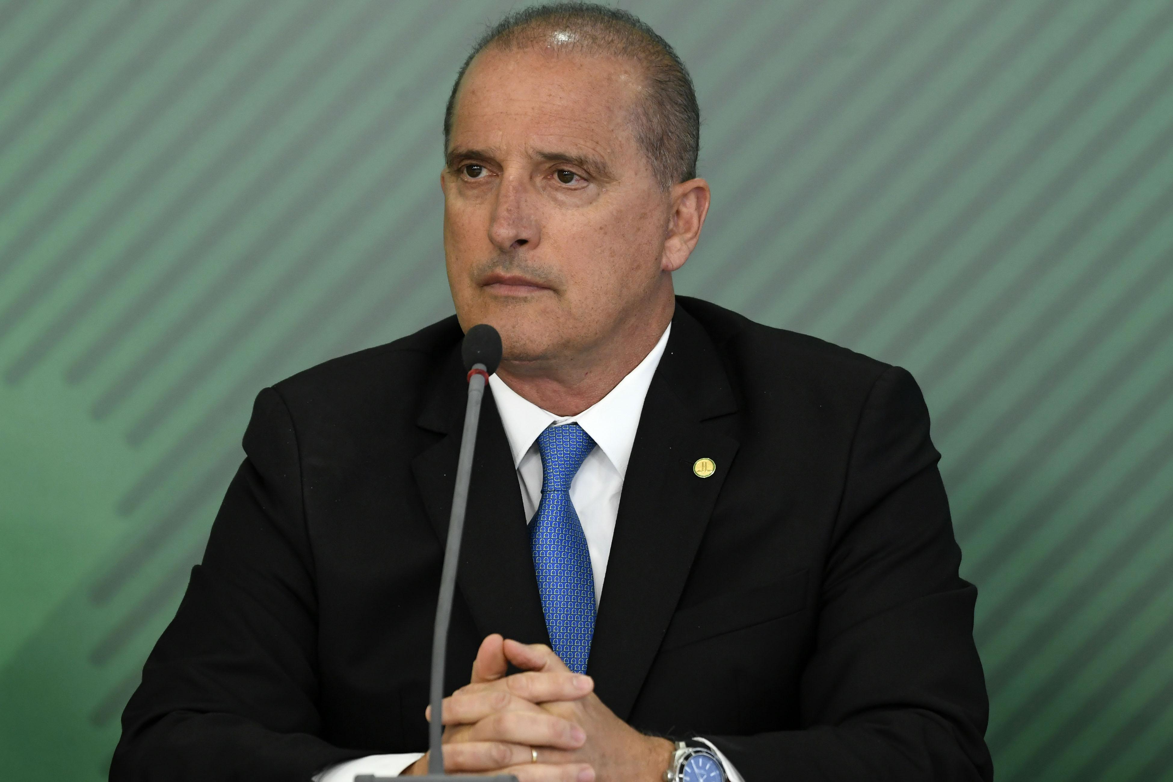 Brazil's Minister of Citizenship Onyx Lorenzoni attends a meeting in Brasília on January 29, 2019.