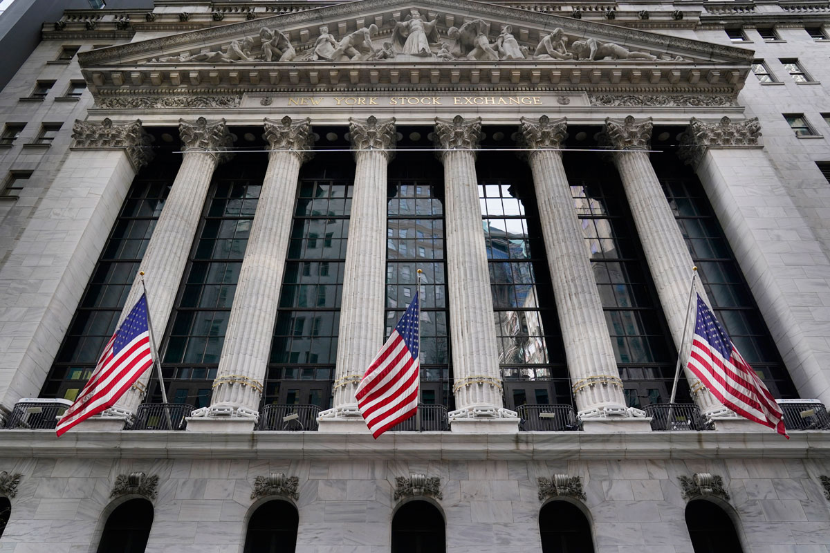 The New York Stock Exchange is seen in New York on Monday, November 23.