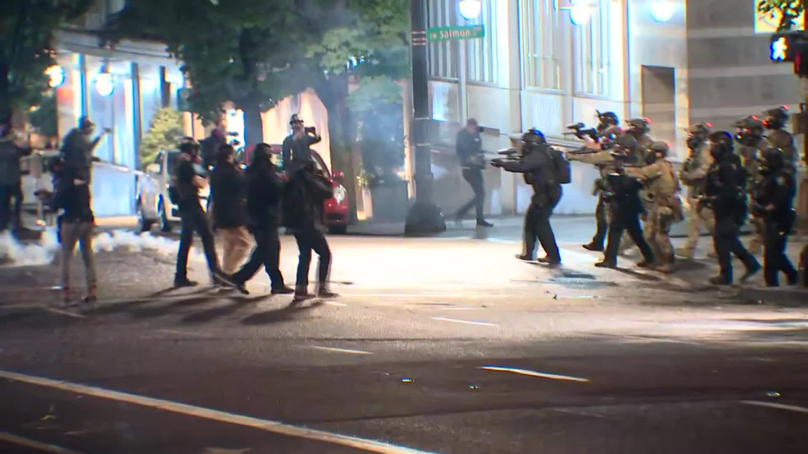 Portland Police declare a riot due to protesters in Porland, Oregon, on September 24.
