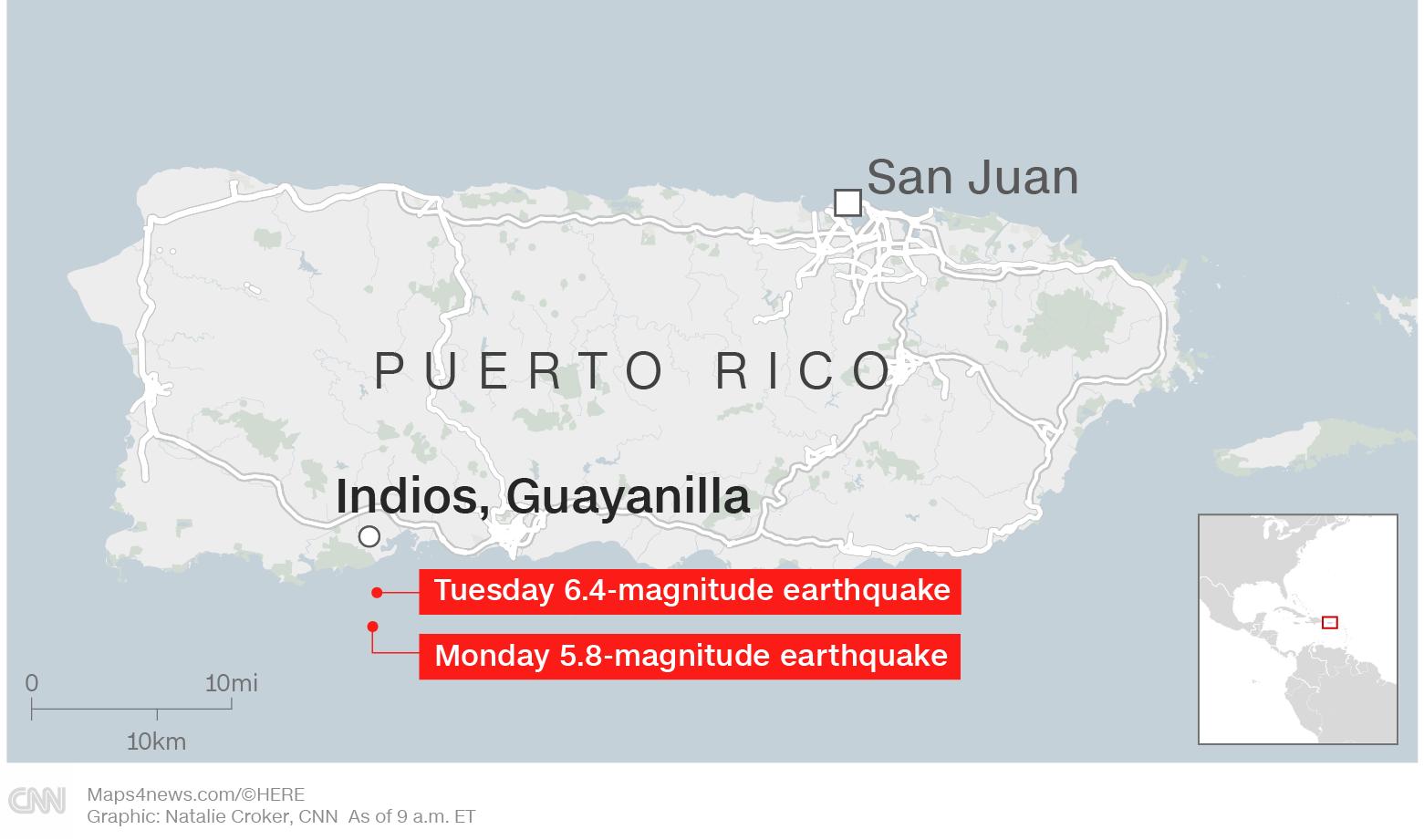 Live updates: Puerto Rico earthquake - CNN