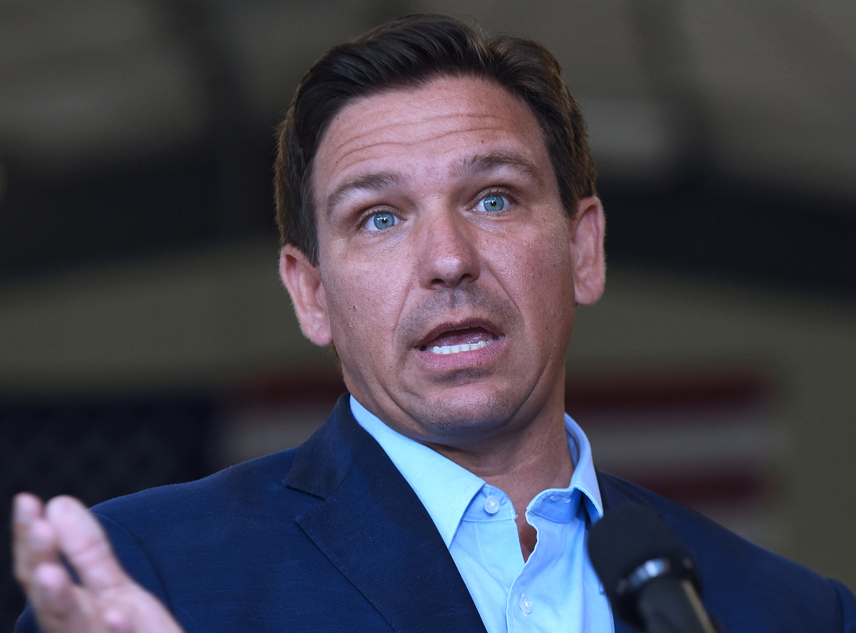 Florida Gov. Ron DeSantis speaks at a press conference on March 22, in Melbourne, Florida.