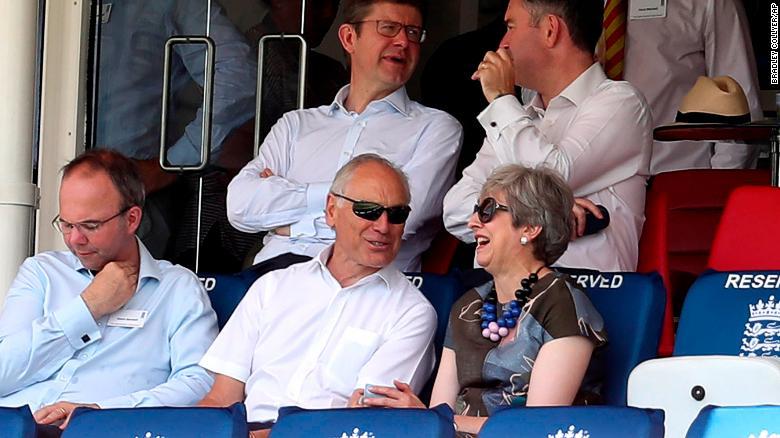 Theresa May at Lord's cricket ground