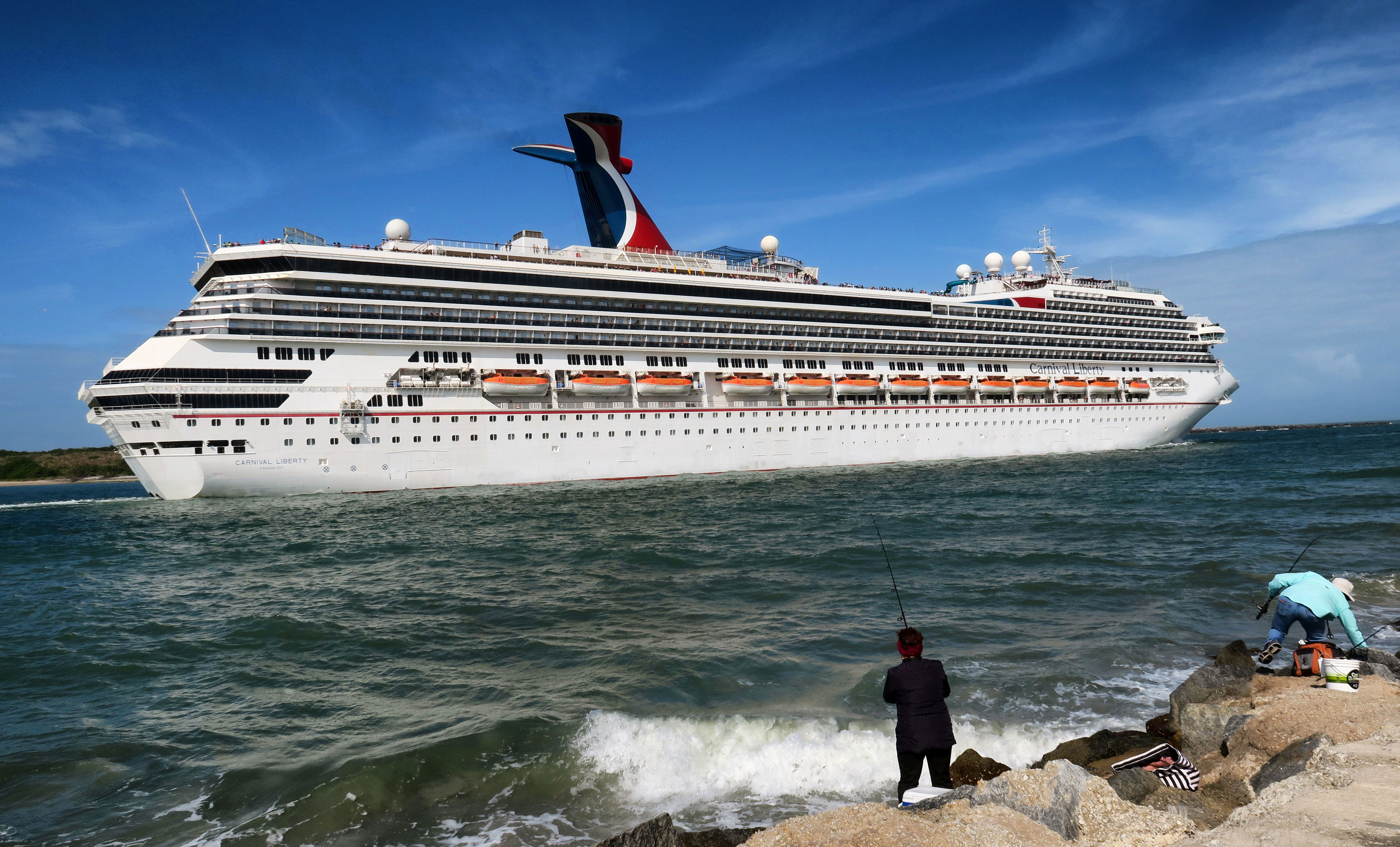 The Carnival Liberty — a Carnival Cruise Line ship — leaves Port Canaveral in Florida on March 9.