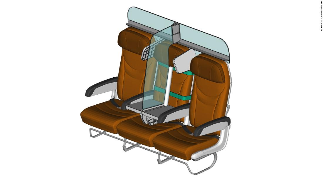 French aeronautical engineer Florian Barjot has designed this airplane interiors concept, dubbed PlanBay.