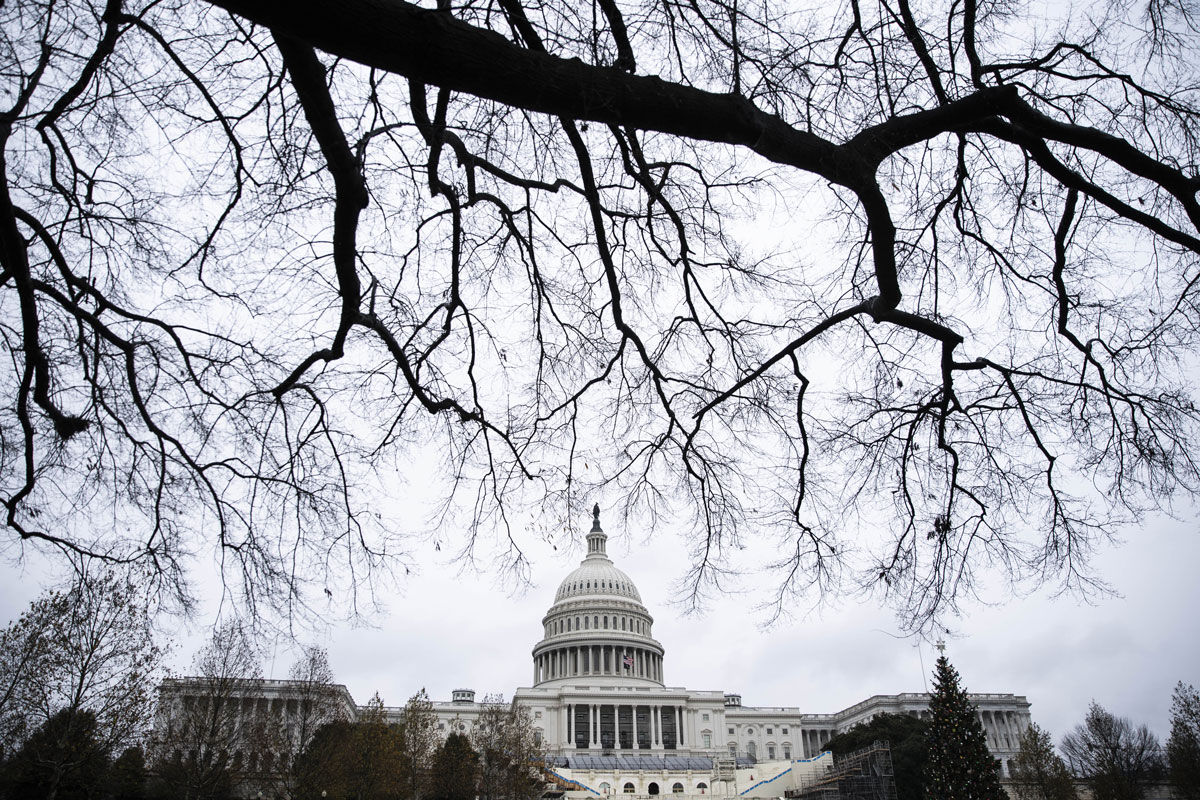 The US Capitol is photographed on Dec. 14 in Washington DC.