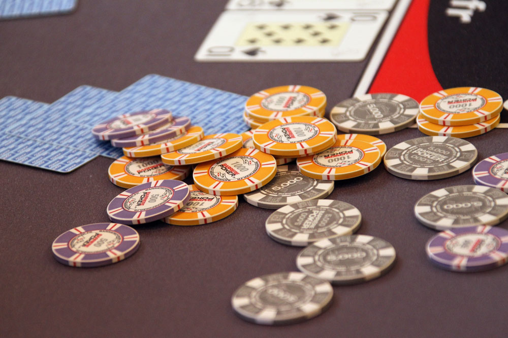 Chips of a competitor of the World Series of Poker Europe tournament on October 18, 2011 in Cannes, southern France.