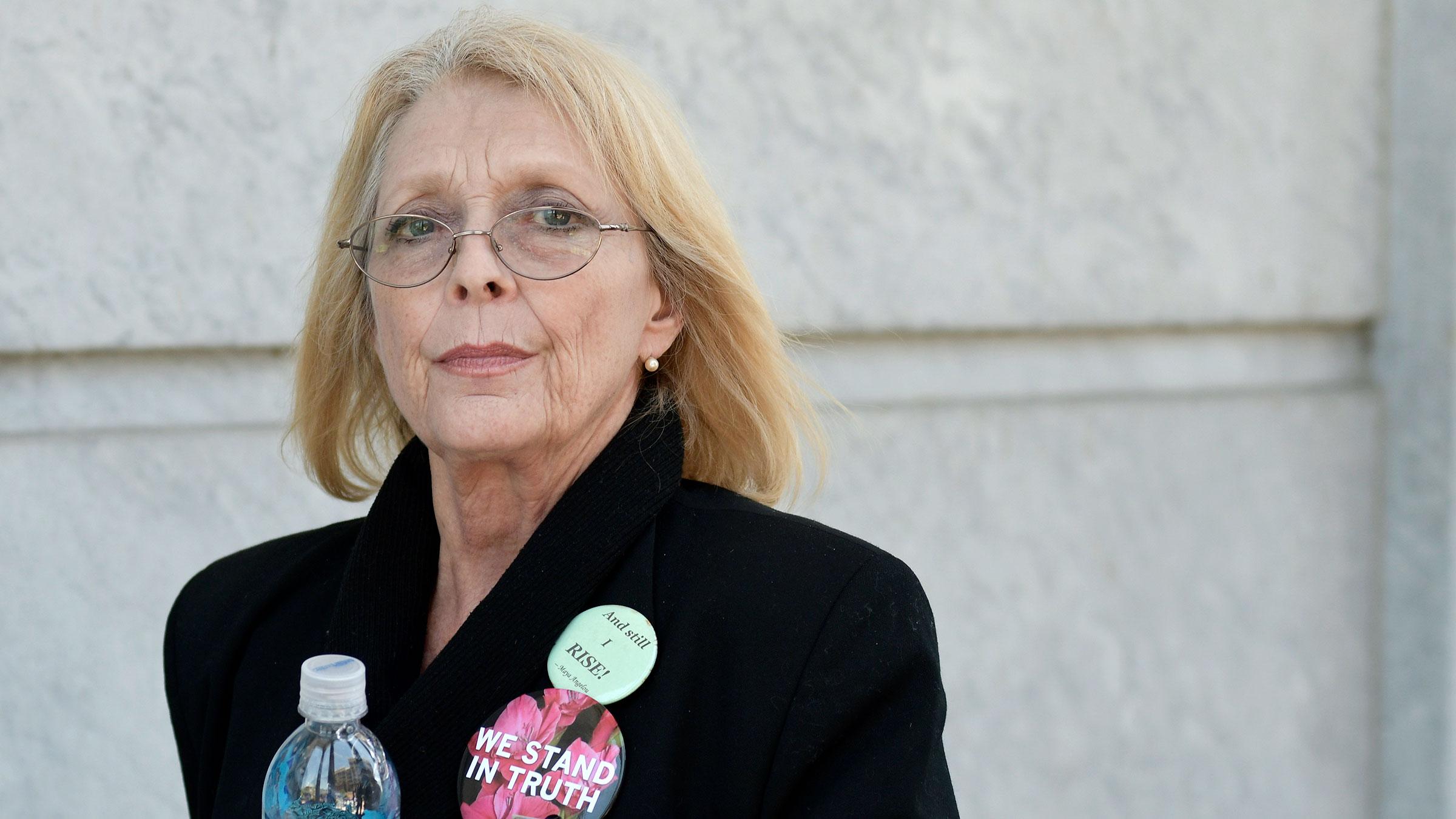 Victoria Valentino attends Bill Cosby's trial in Norristown, Pennsylvania, in 2017.