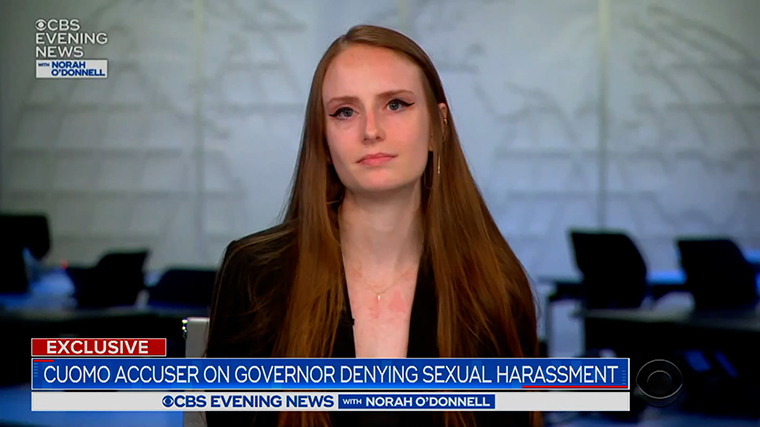 Charlotte Bennet appears on CBS Evening News with Norah O'Donnell.
