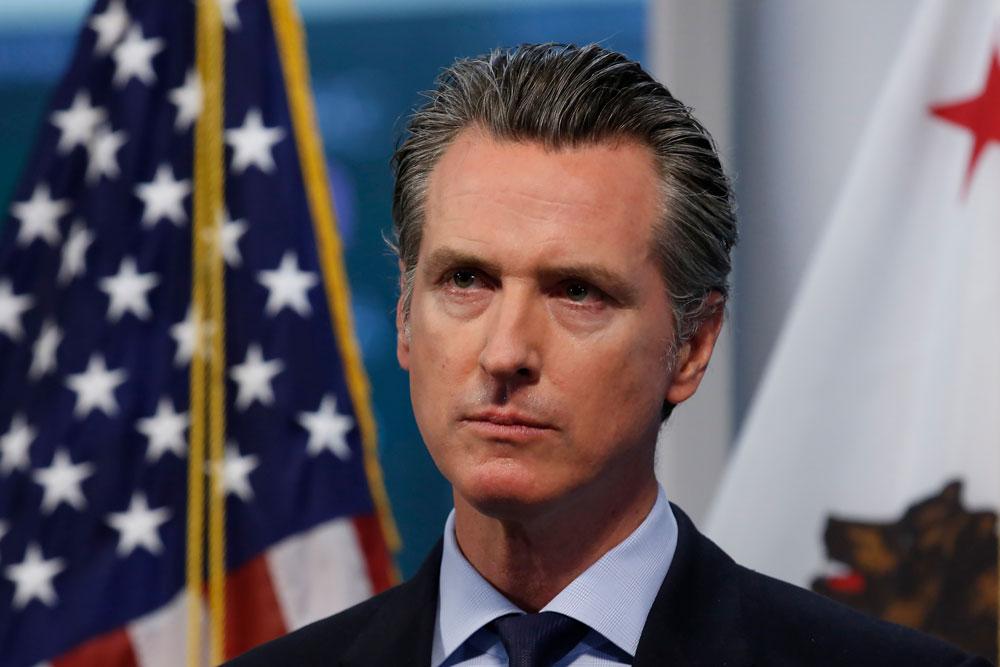 Gov. Gavin Newsom on April 9 in Rancho Cordova, California.