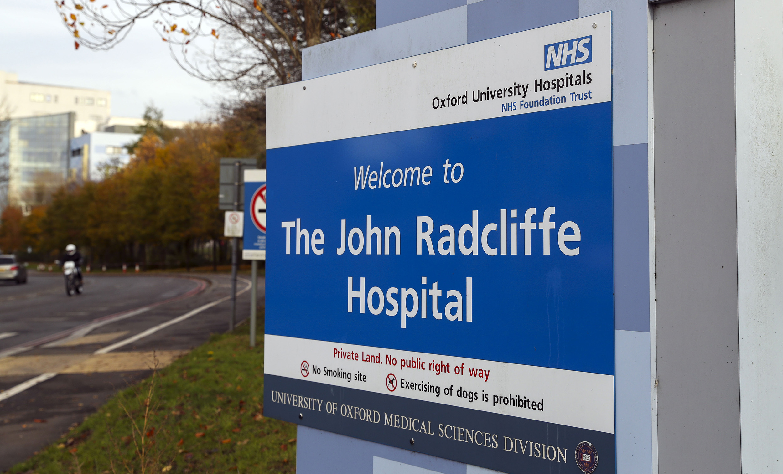 The John Radcliffe Hospital in Oxford, England.