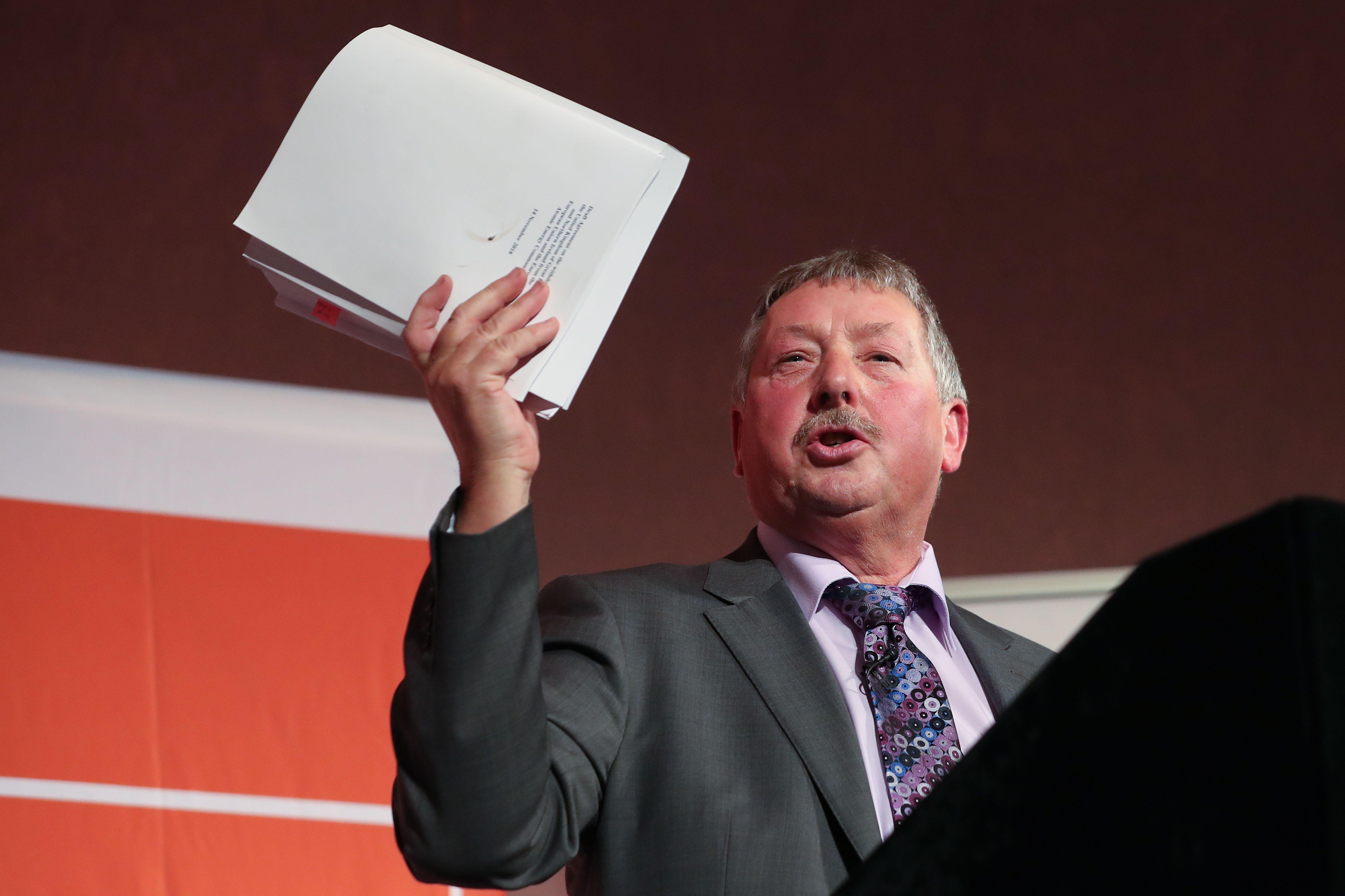 The DUP's Westminster leader Sammy Wilson.