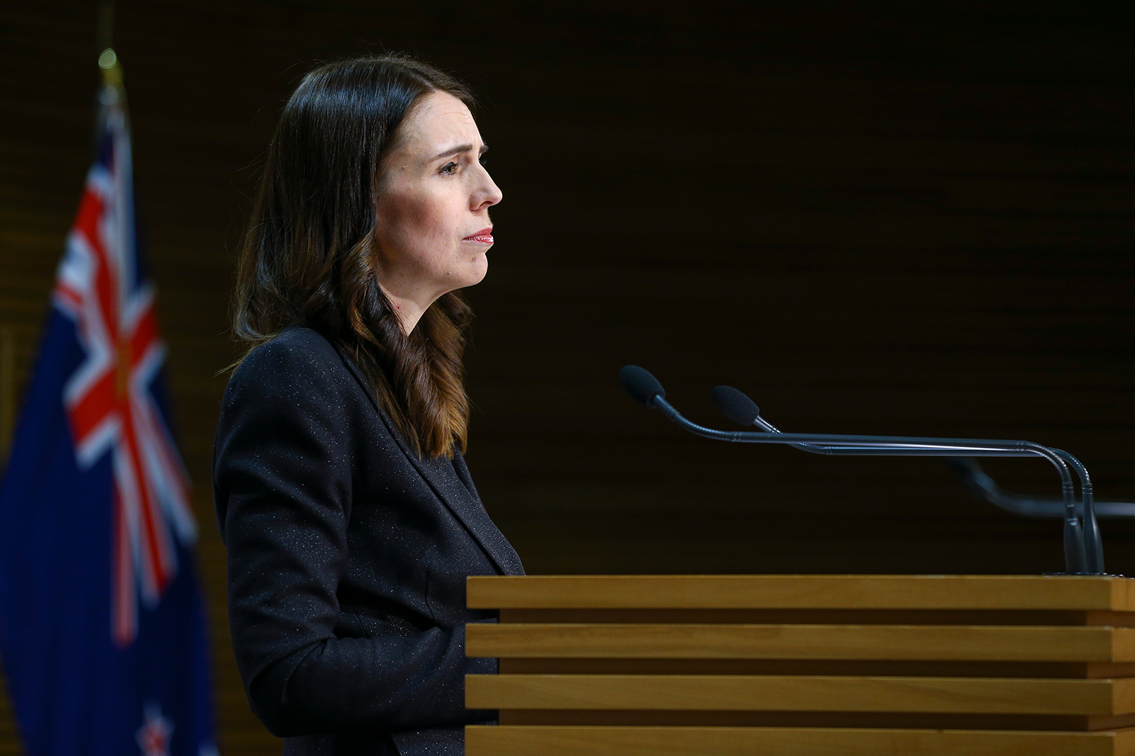 Prime Minister Jacinda Ardern at a press conference on May 27, in Wellington, New Zealand.