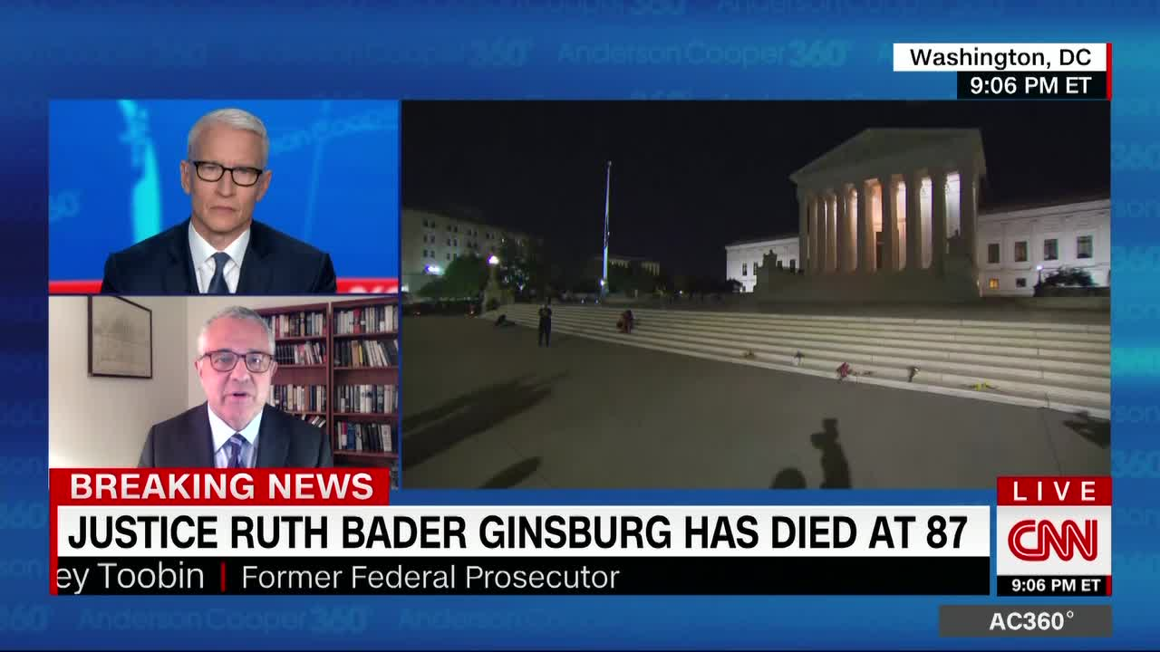 Ginsburg said she didn't want to be replaced on Supreme Court 'until a new president is installed'