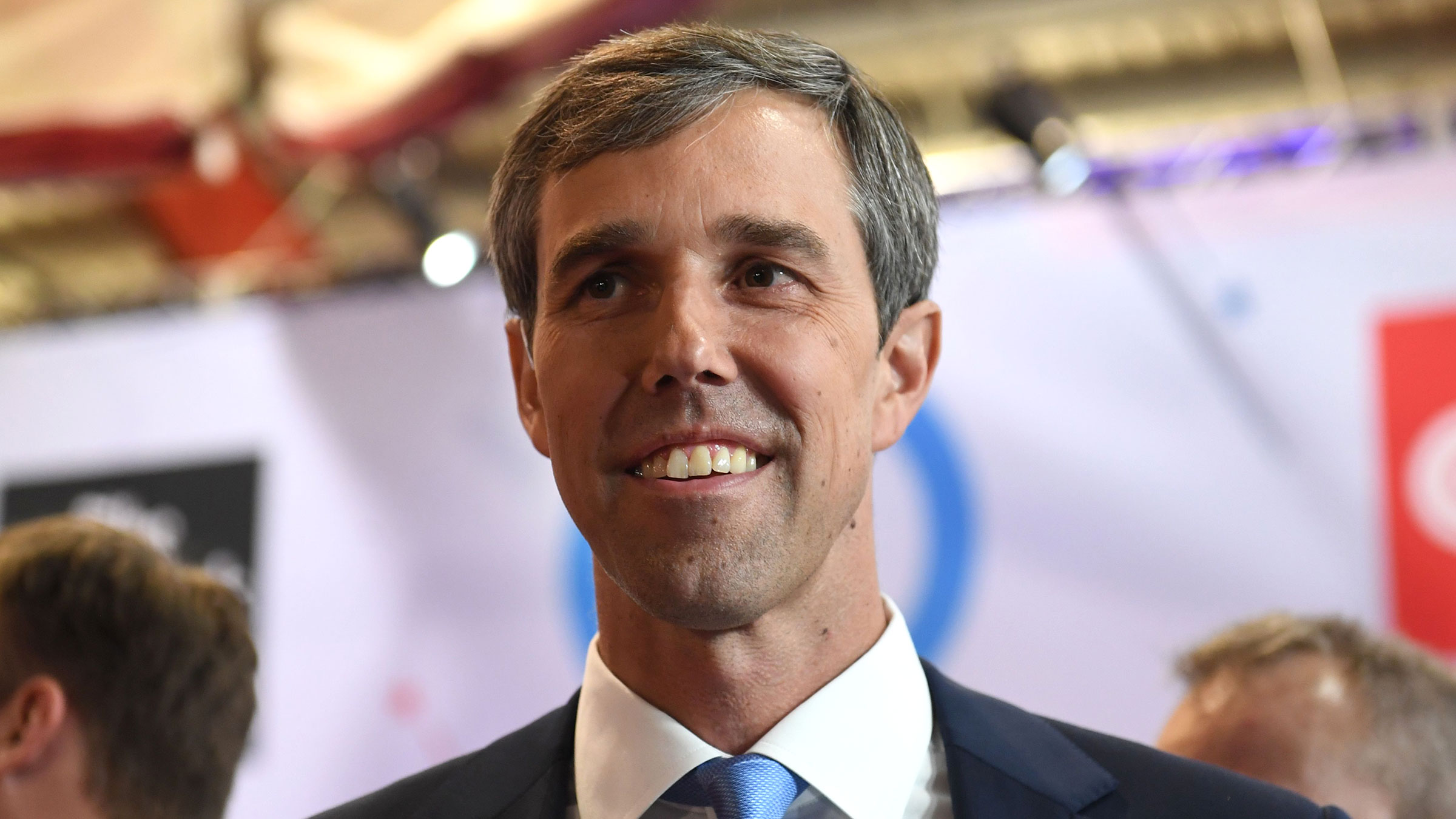 Former Texas Rep. Beto O'Rourke attends a Democratic primary debate at Otterbein University in Westerville, Ohio, on October 15, 2019.