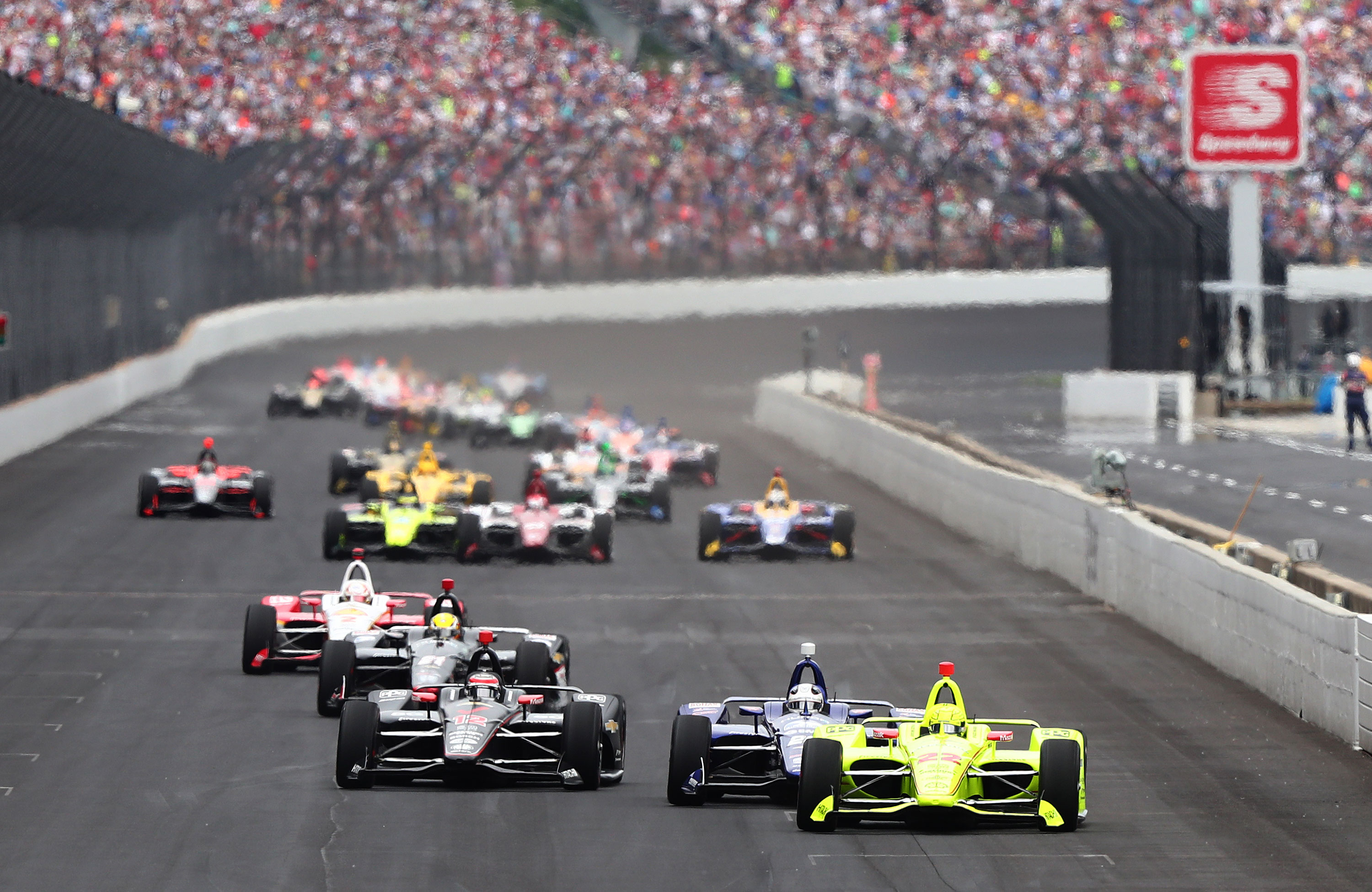 General view of the 103rd Indianapolis 500 on May 26, 2019 in Indianapolis, Indiana.