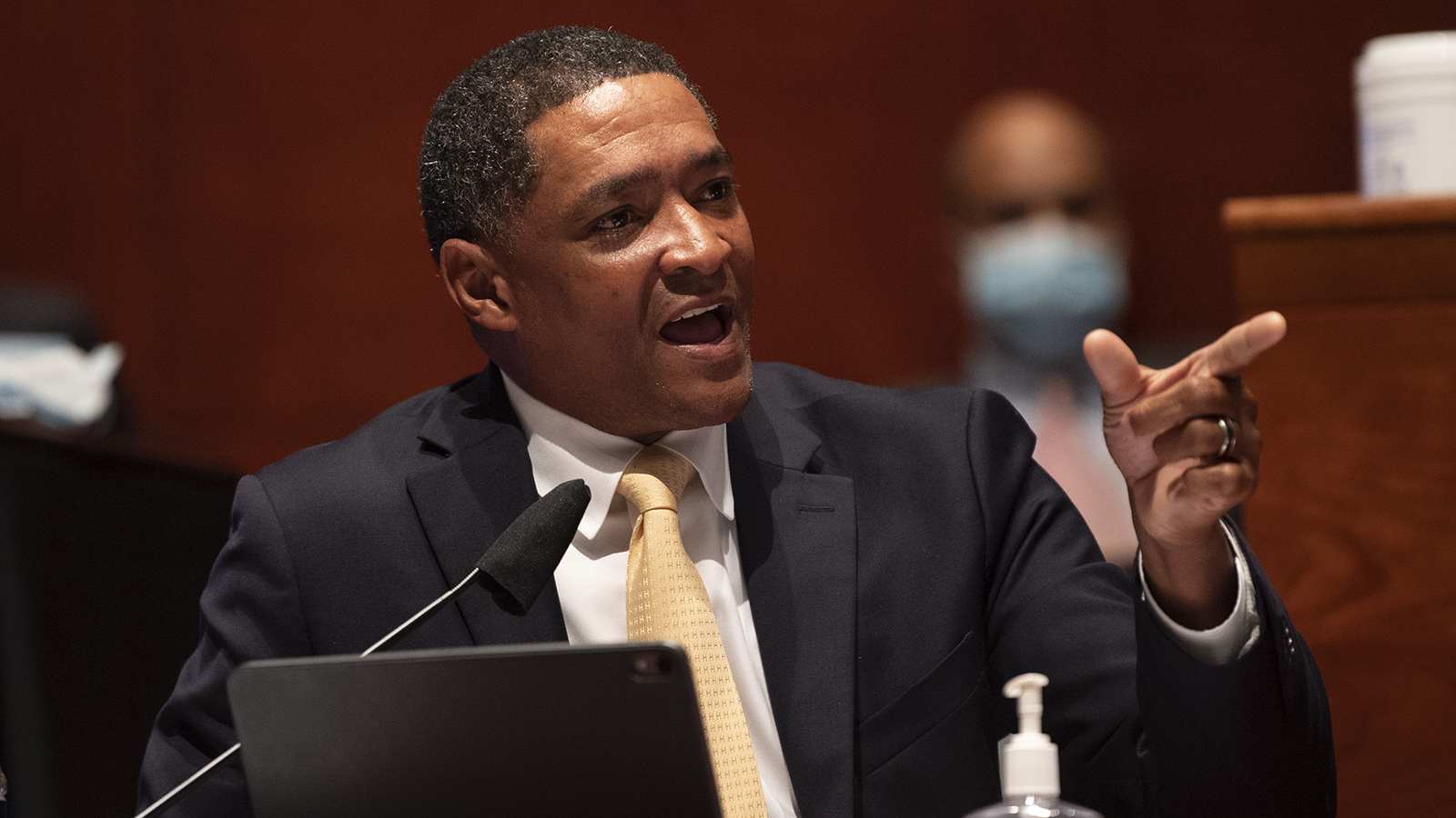 "Rep. Cedric Richmond delivers remarks during a House Judiciary Committee markup of H.R. 7120, the ""George Floyd Justice in Policing Act of 2020,"" on Capitol Hill on June 17 in Washington."