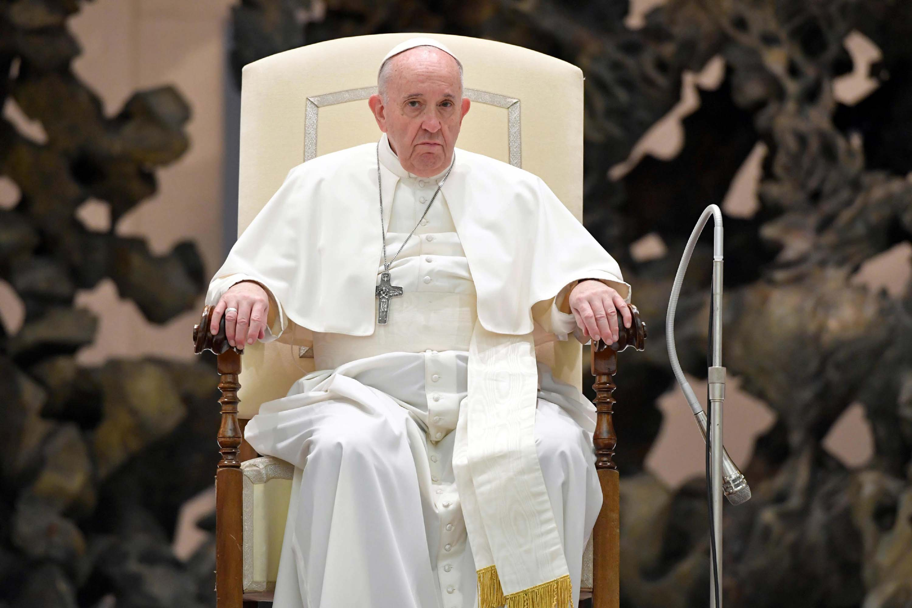 Pope Francis is pictured during the general audience at Vatican City, on October 28.