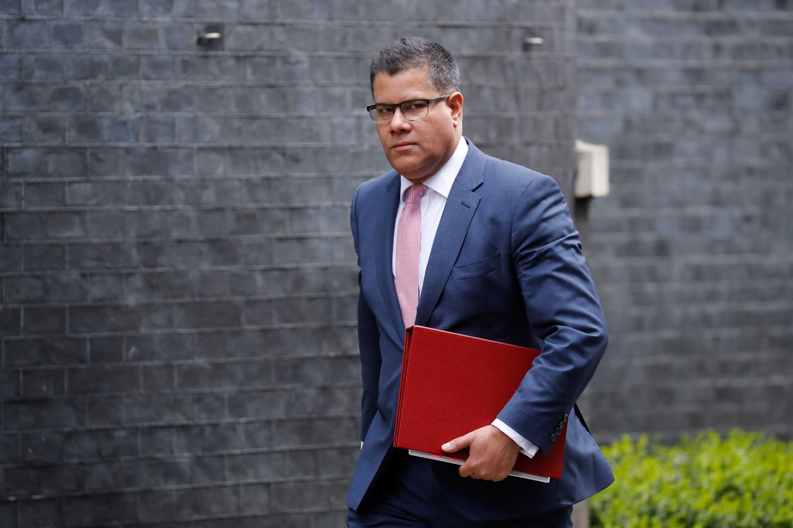 Britain's Business Minister Alok Sharma arrives at 10 Downing Street in London on March 17, ahead of a Cabinet meeting.